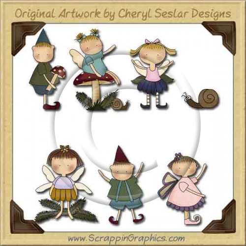 Woodland Wee Folk Collection Graphics Clip Art Download
