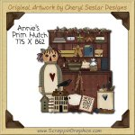 Annie's Prim Hutch Single Clip Art Graphic Download