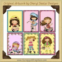 Huckleberry Friends Greeting Card Sampler Collection Printable Download