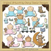 Wee Folk Babies Collection Graphics Clip Art Download