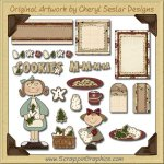 Cookie Time Journaling Delights Digital Scrapbooking Graphics Clip Art Download