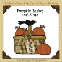 Pumpkin Basket Single Graphics Clip Art Download