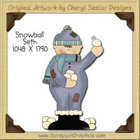 Snowball Seth Single Clip Art Graphic Download