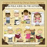 Bean Pole Kids In The Kitchen Limited Pro Clip Art Graphics