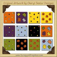 Spooky Ookey Background Tiles Collection Graphics Clip Art Downl