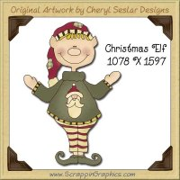 Christmas Elf Single Graphics Clip Art Download