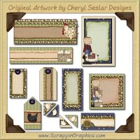 Baxter Basic Journaling Delights Digital Scrapbooking Graphics Clip Art Download