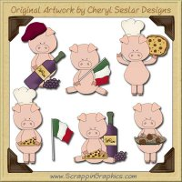 Italian Piggies Collection Graphics Clip Art Download