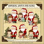 Whimsical Santa & Angus Limited Pro Clip Art Graphics