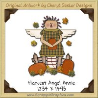 Harvest Annie Angel Single Graphics Clip Art Download