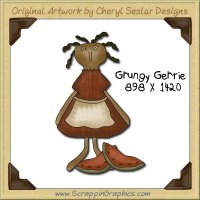 Grungy Gertie Single Graphics Clip Art Download