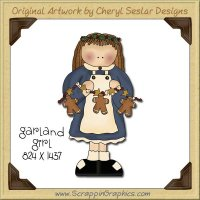 Garland Girl Single Graphics Clip Art Download