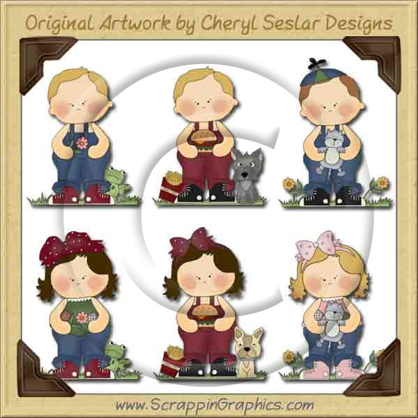 Rag A Muffins Collection Graphics Clip Art Download - Click Image to Close