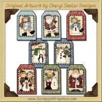 Winter Wonderland Tag Collection Printable Craft Download