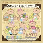 Bouncing Babies Easter Limited Pro Clip Art Graphics