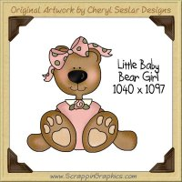 Little Baby Bear Girl Single Graphics Clip Art Download