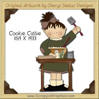 Cookie Cassie Single Clip Art Graphic Download