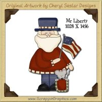 Mr. Liberty Single Graphics Clip Art Download