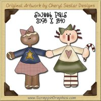Sweet Pals Single Graphics Clip Art Download