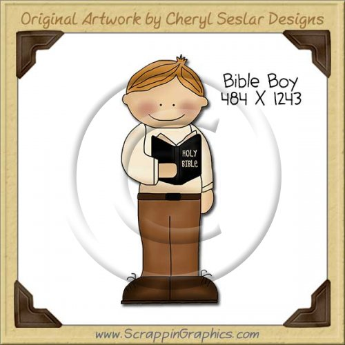 Bible Boy Single Clip Art Graphic Download