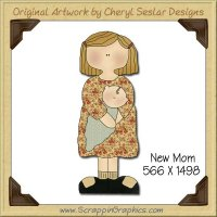 New Mom Single Graphics Clip Art Download