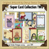 Super Card Sampler Collection Two Printable Craft Download