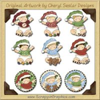 Sweet Cheeks Christmas Limited Pro Graphics Clip Art Download