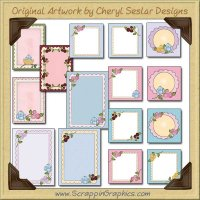 Spring Blooms Sampler Card Collection Printable Craft Download
