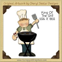 King Of The Grill Single Clip Art Graphic Download