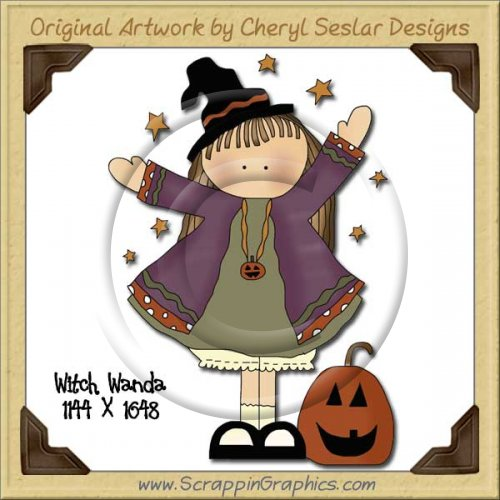 Witch Wanda Single Graphics Clip Art Download