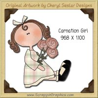 Carnation Girl Single Graphics Clip Art Download