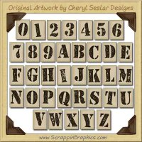 Stencil Alphabet Collection Graphics Clip Art Download