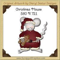 Christmas Mouse Single Graphics Clip Art Download