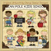 Bean Pole Kids School Limited Pro Clip Art Graphics