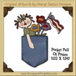 Pocket Full Of Posies Single Graphics Clip Art Download
