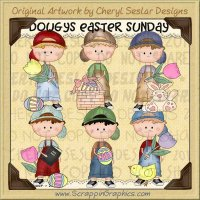 Dougy's Easter Sunday Limited Pro Clip Art Graphics Collection
