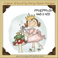 Frog Prince Single Graphics Clip Art Download