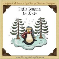 Little Penguin Single Graphics Clip Art Download