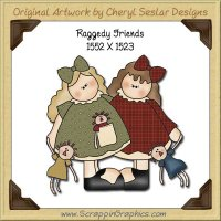 Raggedy Pals Single Graphics Clip Art Download