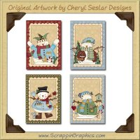 Little Snow Guy Cards Collection Printable Craft Download
