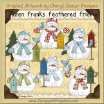 Frozen Frank Feathered Friends Limited Pro Clip Art Graphics
