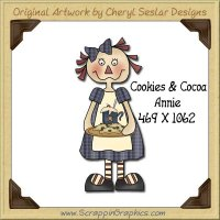 Cookies & Cocoa Annie Single Graphics Clip Art Download
