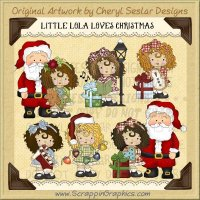 Little Lola Loves Christmas Limited Pro Clip Art Graphics