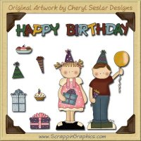 Happy Birthday Collection Graphics Clip Art Download