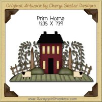 Prim Home Single Clip Art Graphic Download