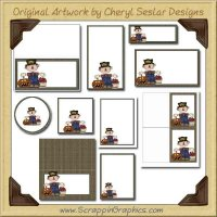 Mr. Harvest Printable Pack Graphics Clip Art Download