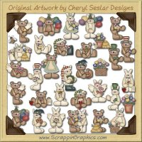 All Occasion Bears & Hares Collection Clip Art Download