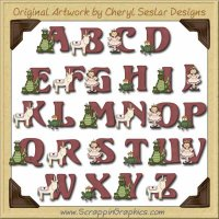 Fantasy Alphabet & Numbers Clip Art Download