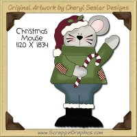 Christmas Mouse Single Clip Art Graphic Download