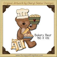 Bakery Bear Single Clip Art Graphic Download